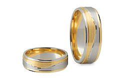 Svadobné obrúčky dvojfarebné šírka 6 mm STOB140