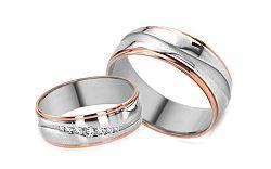 Svadobné obrúčky klasické s diamantmi s 0,125 ct RYOB270