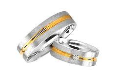 Svadobné obrúčky kombinované zlato šírka 5 mm RYOB011