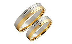 Svadobné obrúčky s diamantmi 0,020 ct šírka 4 mm STOBR223