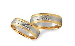 Svadobné obrúčky s diamantmi 0,020 ct šírka 5 mm STOBR235