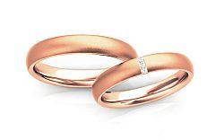 Svadobné obrúčky s diamantmi 0,030 ct šírka 4 mm STOBR261R
