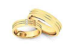 Svadobné obrúčky s diamantmi 0,030 ct šírka 5,3 mm STOBR206