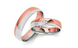 Svadobné obrúčky s diamantmi 0,035 ct šírka 4,5 mm STOBR275R