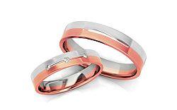 Svadobné obrúčky s diamantmi 0,040 ct šírka 4 mm STOBR222R