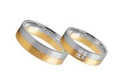 Svadobné obrúčky s diamantmi 0,040 ct šírka 4 mm STOBR232