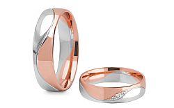 Svadobné obrúčky s diamantmi 0,040 ct šírka 5 mm STOBR276R