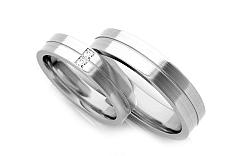 Svadobné obrúčky s diamantmi 0,060 ct šírka 5,3 mm STOBR245A