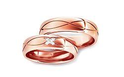 Svadobné obrúčky s diamantmi 0,060 ct šírka 5 mm STOBR278R