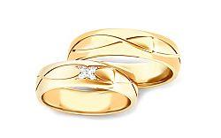 Svadobné obrúčky s diamantmi 0,060 ct šírka 5 mm STOBR278Y