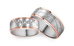 Svadobné obrúčky s diamantmi 0,064 ct RYOB278
