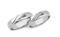Svadobné obrúčky s diamantmi 0,070 ct šírka 5 mm STOBR284