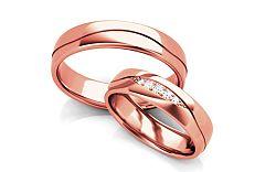 Svadobné obrúčky s diamantmi 0,070 ct šírka 5 mm STOBR296R
