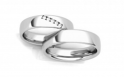 Svadobné obrúčky s diamantmi 0,075 ct šírka 4,6 mm STOBR270A