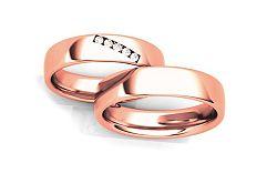 Svadobné obrúčky s diamantmi 0,075 ct šírka 4,6 mm STOBR270R