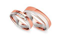 Svadobné obrúčky s diamantmi 0,075 ct šírka 5 mm STOBR293R