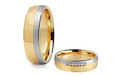 Svadobné obrúčky s diamantmi 0,105 ct šírka 5,5 mm STOBR285