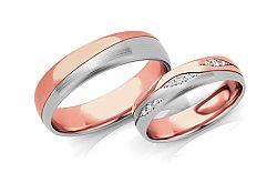 Svadobné obrúčky s diamantmi 0,105 ct šírka 5 mm STOBR287AR