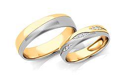 Svadobné obrúčky s diamantmi 0,105 ct šírka 5 mm STOBR287AY