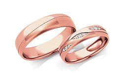 Svadobné obrúčky s diamantmi 0,105 ct šírka 5 mm STOBR287R