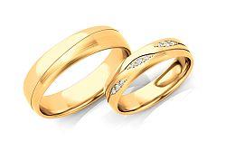 Svadobné obrúčky s diamantmi 0,105 ct šírka 5 mm STOBR287Y