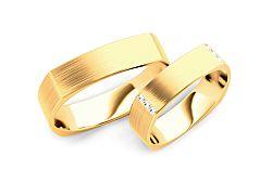 Svadobné obrúčky s diamantmi 0,120 ct šírka 5 mm STOBR193