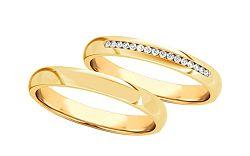 Svadobné obrúčky s diamantmi 0,160 ct šírka 3,5 mm STOBR277Y