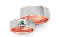 Svadobné obrúčky s diamantmi 0,160 ct šírka 6,6 mm STOBR243R