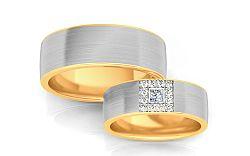 Svadobné obrúčky s diamantmi 0,160 ct šírka 6,6 mm STOBR244