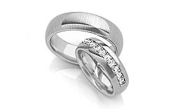Svadobné obrúčky s diamantmi 0,330 ct šírka 6 mm STOBR071A