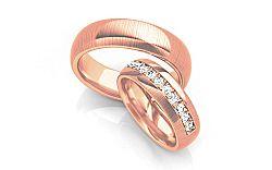 Svadobné obrúčky s diamantmi 0,330 ct šírka 6 mm STOBR071R