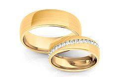 Svadobné obrúčky s diamantmi 0,540 ct šírka 6 mm STOBR292Y