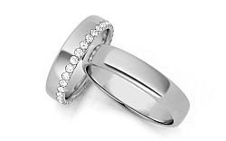 Svadobné obrúčky s diamantmi 0,640 ct šírka 4,5 mm STOBR289