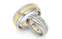 Svadobné obrúčky s diamantmi 0,960 ct šírka 6,5 mm STOBR181
