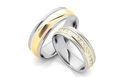 Svadobné obrúčky s diamantmi 0,960 ct šírka 6 mm STOBR083