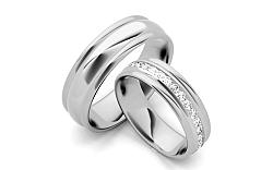 Svadobné obrúčky s diamantmi 0,960 ct šírka 6 mm STOBR083A