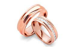 Svadobné obrúčky s diamantmi 0,960 ct šírka 6 mm STOBR083RS