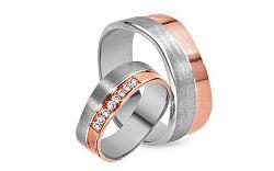 Svadobné obrúčky s diamantmi s 0,020 ct RYOB265