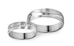 Svadobné obrúčky s diamantmi s 0,075 ct RYOB263
