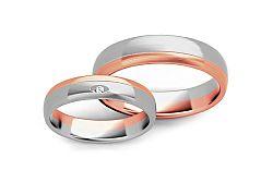Svadobné obrúčky s diamantom 0,015 ct šírka 4,5 mm STOBR288R