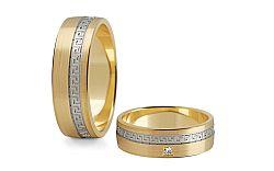 Svadobné obrúčky s diamantom 0,015 ct šírka 6 mm STOBR203