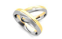 Svadobné obrúčky s diamantom 0,020 ct šírka 4 mm STOBR236