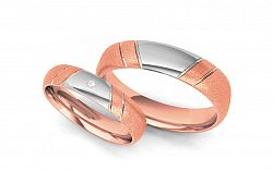 Svadobné obrúčky s diamantom 0,020 ct šírka 5 mm STOBR052R