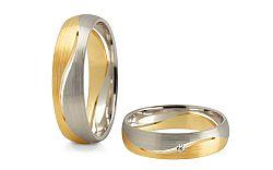 Svadobné obrúčky s diamantom 0,020 ct šírka 5 mm STOBR247