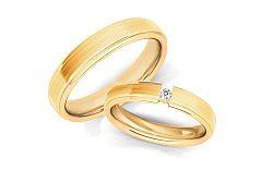 Svadobné obrúčky s diamantom 0,030 ct šírka 4 mm STOBR266Y