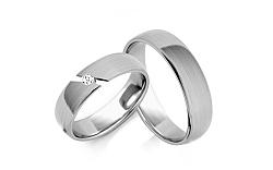 Svadobné obrúčky s diamantom 0,040 ct šírka 5 mm STOBR262A