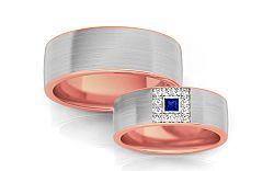 Svadobné obrúčky s modrým zirkónom šírka 6,6 mm STOB242R