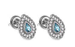 Topásové náušnice s 0,140 ct diamantmi Brea KU0085N