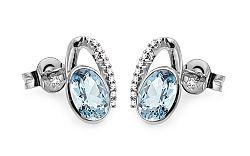 Topásové náušnice s diamantmi 0.080 ct Danila DB0077A