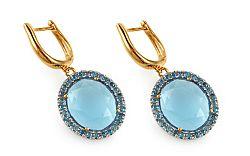 Topásové náušnice s modrými diamantmi Giovanna KU463N